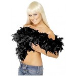 Black Boa Smiffys Fancy Dress