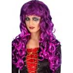 Purple And Black Siren Wig Fancy Dress Smiffys
