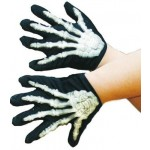 Gloves - Skeleton Gloves With Bones - Childs smiffys