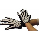 Gloves- Skeleton Gloves With Bones - Adults Smiffys