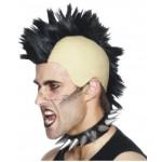 Mohican Wig Black Punk Fancy Dress Smiffys