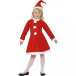 Girls Value Santa Girl Costume