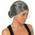Grey Granny Fancy Dress Wig
