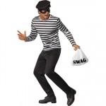Mens Bank Robber Fancy Dress Costume