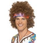 Mens 70s Afro Fancy Dress Wig