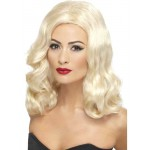 Ladies Long Blonde 1920s Fancy Dress Wig