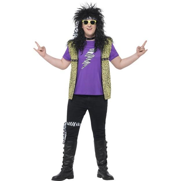 Plus Size 80s Rock Star Costume Cheap Fancy Dress