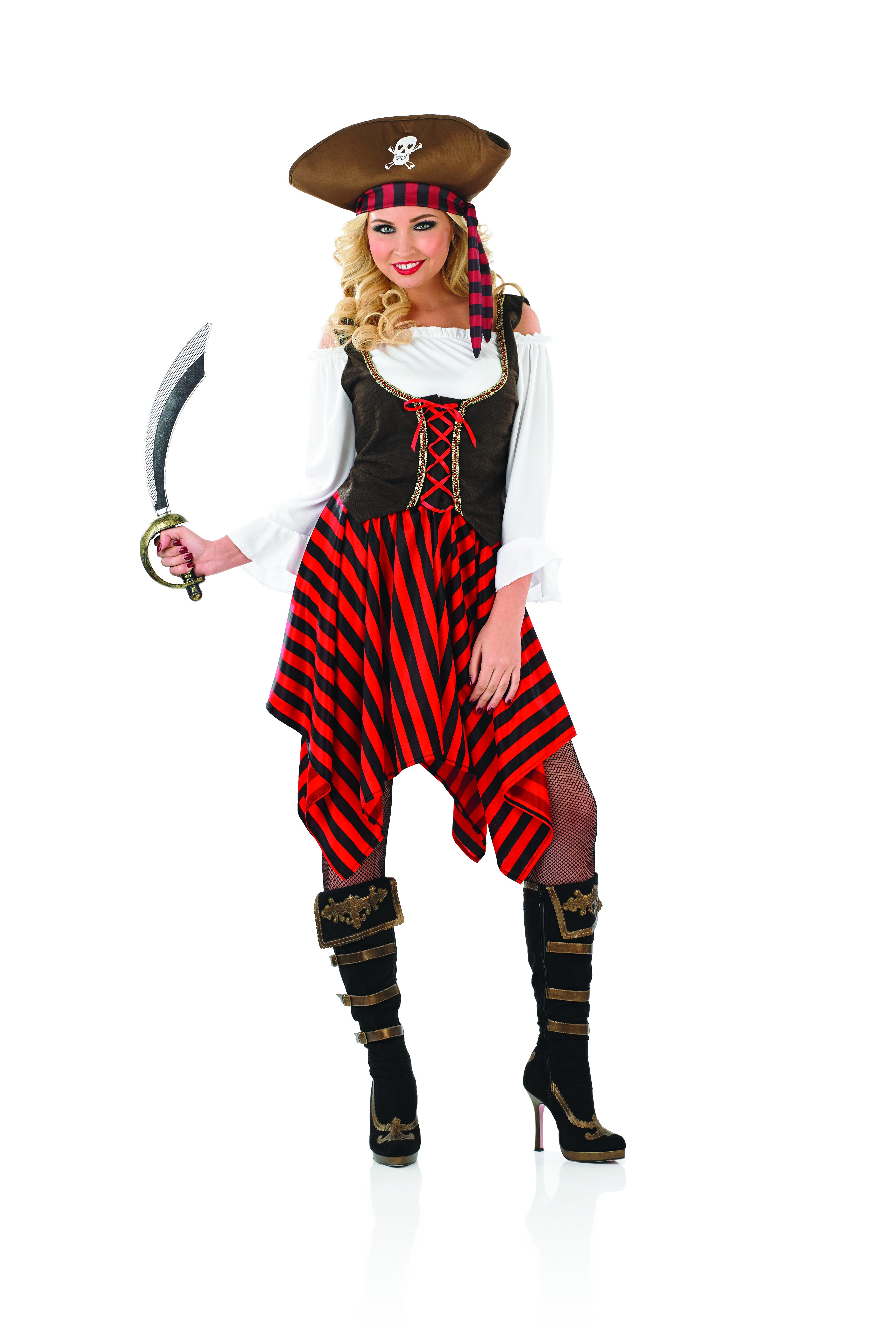 Ladies Pirate Girl Fancy Dress Costume ~ AbFab.co.uk ...