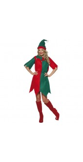 Ladies Elf  Christmas Costume Smiffys