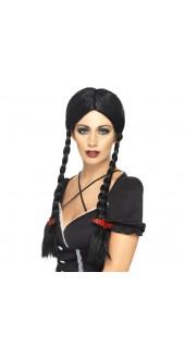 Black Gothic Schoolgirl Wig