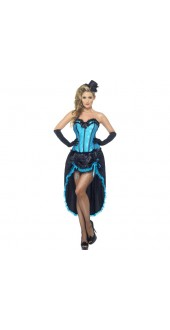 Blue Burlesque Dancer Costume
