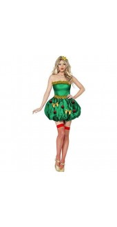 Smiffy's Fever Christmas Festive Tree Costume - Size Medium (dress size 12-14)