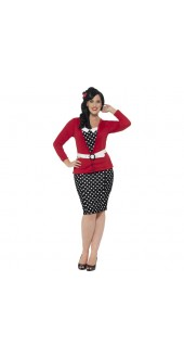 Plus Size 50's Pin Up Costume