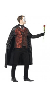 Mens Halloween Dark Opera Masquerade Fancy Dress