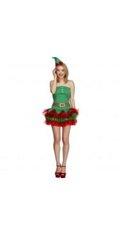 Ladies Sexy Christmas Elf Costume