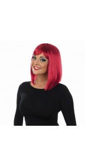 Straight Burgundy Long Bob Wig