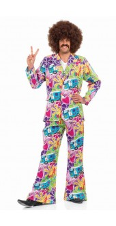 Men's 60s Psychedelic Fancy Dress Suit