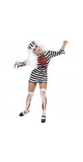 Ladies Zombie Convict Halloween Costume