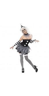 Sinister Pierrot Halloween Costume