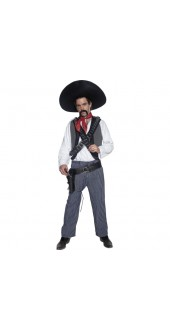 Authentic Western Mexican Bandit Costume