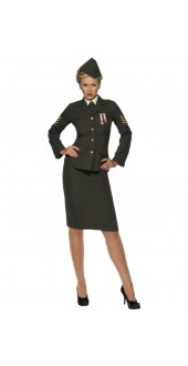 Wartime Officer Costume Costume