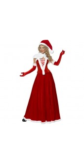 Luxury Miss Santa Costume