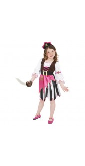 Pink Pirate Girl Costume