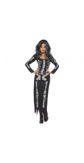 Ladies Skeleton Halloween Costume