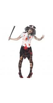 Zombie Policewoman Halloween Costume