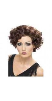 20'S Flirty Flapper Wig, Brown