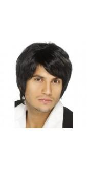 Boyband Wig Black
