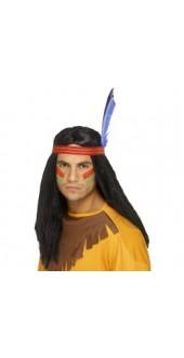 Indian Brave Wig Black