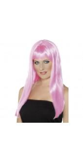 Pink Mystique Wig