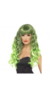 Green and Black Siren Wig
