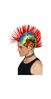 80s Punk Mohawk Fancy Dress Wig