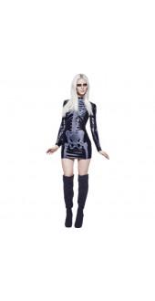 Fever Miss Whiplash Skeleton Costume