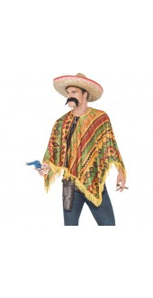 Poncho Instant Kit With Moustache