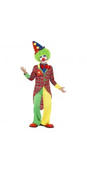 Child's Colourful Clown Costume