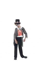 Boys Halloween Zombie Groom Fancy Dress Costume