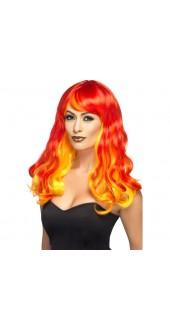 Devil Flame Ombre Wig