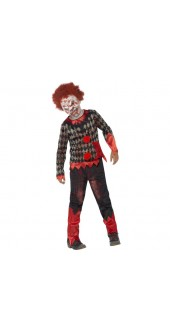 Deluxe Child's Zombie Clown Costume