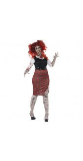 Plus Size Zombie School Girl Costume