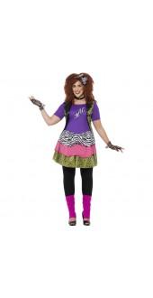 Plus Size 80's Rock Chick Costume