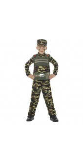 Child's Camouflage Military Boy Costume