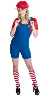 Ladies Red Plumbers Mate Costume