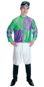 Green And Purple Jockey Costune