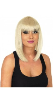 Straight Blonde Long Bob Wig