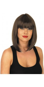 Straight Brown Long Bob Wig
