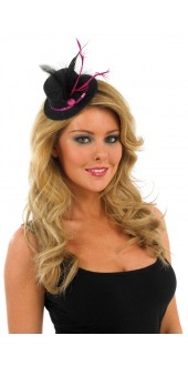 Glitter Black And Pink Top Hat