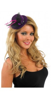 Glitter Purple And Black Top Hat